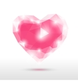 crystal glass heart vector image