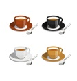 Cup of coffee Set of vector image vector image