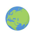 earth globe icon world planet with europe map vector image vector image