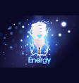 eco energy saving light bulb glowing compact vector image
