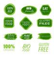 eco friendly labels set vector image