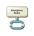 emergency brake in white and light blue design vector image vector image