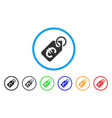 euro price tag rounded icon vector image
