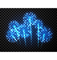 Festive blue firework background vector image vector image