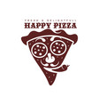 flat pizza slice icon pictogram isolated vector image