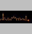 frankfurt light streak skyline vector image