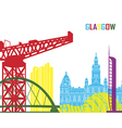 Glasgow skyline pop vector image vector image