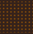 gold stars pattern on brown background vector image