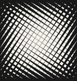 halftone geometric pattern crossing diagonal line vector image vector image