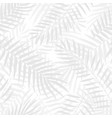 hand drawn black and white palm leaves vector image vector image