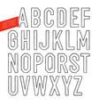 handmade retro outline white font black letters vector image vector image