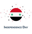 independence day of syria patriotic banner vector image vector image