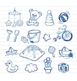 Infant Icon set vector image vector image