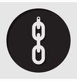 information icon - hanging chain with hole vector image
