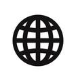 internet icon web globe symbol vector image vector image