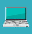 laptop flat vector image vector image