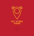 logo pet store dog map marker vector image vector image