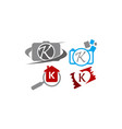 logotype k modern template set vector image vector image