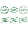 mega stamps vector image vector image