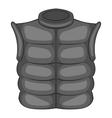Mens vest sleeveless icon black monochrome style vector image vector image