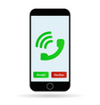 Mobile phone call vector image