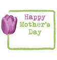 mothers day greeting card background vector image vector image