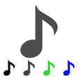 musical note flat icon vector image vector image