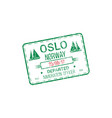 oslo international harbor isolated visa stamp vector image vector image