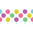 party set of hanging pastel colorful vector image vector image