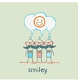 people think about smileys vector image vector image