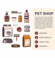 pets accessories pet shop vector image vector image