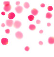 pink rose petals falling valentine background vector image