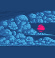 pixel art clouds 8 bit objects blue magic sky vector image vector image