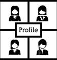 Profile design vector image vector image