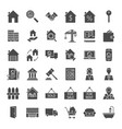 real estate solid web icons vector image vector image