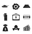 revolt icons set simple style vector image vector image