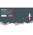 rocket to space clouds vector image vector image