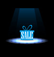 sale gift box under the spotlight vector image vector image