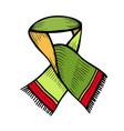 scarf design beautiful vector image