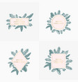 set christmas foliage cards signs or logo vector image