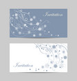 set horizontal banners beautiful winter vector image vector image