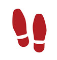 shoe footprint - human foot vector image