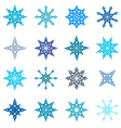 Snowflakes Set - Paper Flat Design vector image vector image