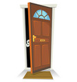something or someone behind the door vector image vector image