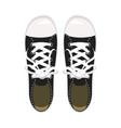 sports shoes gym shoes keds black colors for vector image