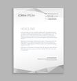 stylish modern letterhead design vector image vector image
