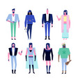 subculture characters set vector image vector image
