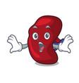 surprised spleen mascot cartoon style vector image vector image