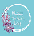 symbol of mother day with flowers vector image vector image