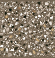 terrazzo flooring seamless pattern in brown vector image vector image